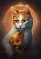 Pet Portrait Commission - GrizGuts by HannasArtStudio
