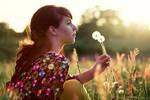 sunset girl II by butterfliesinstead