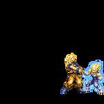 Goku and Majin Vegeta Toss by Cy689