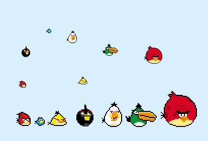 Angry Birds 8-Bit by Cy689