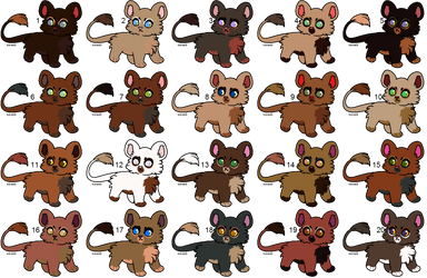 Lion Adopts [14/20 OPEN] by Woofwoof-adopts