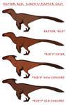 Raptor Red - Adult U. raptor Cast (Colour Schemes)