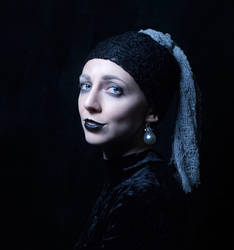 Goth Girl with a Pearl Earring by jarodkearney