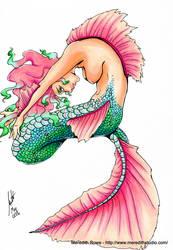 Fin-tastic mermaid - colored by Shiroimiko
