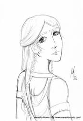 Watching you indifferently - rough sketch by Shiroimiko