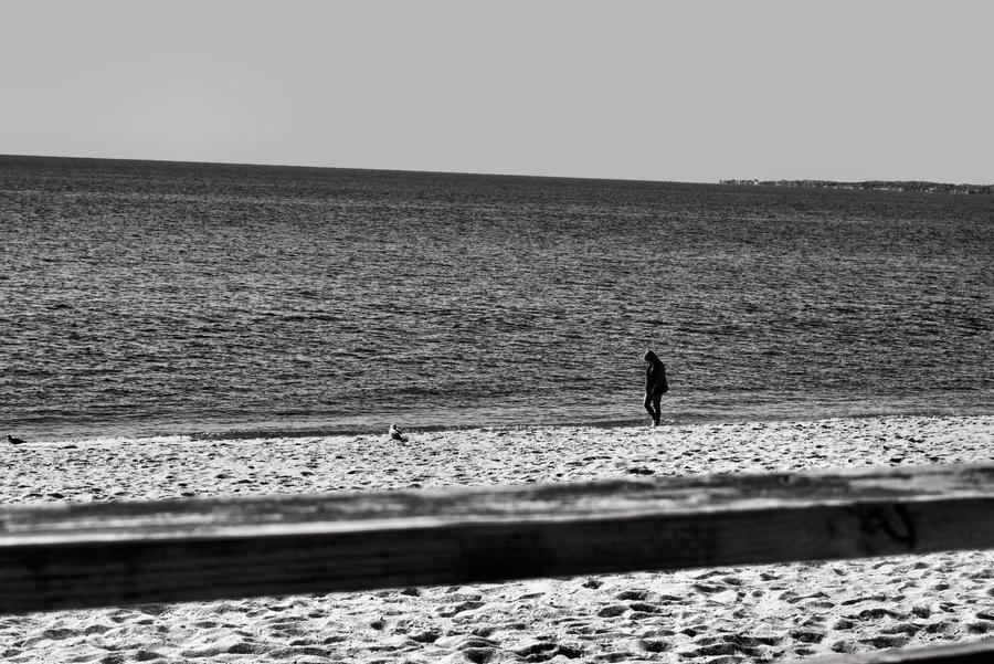 Lonely Cold Walk by darkmirror29