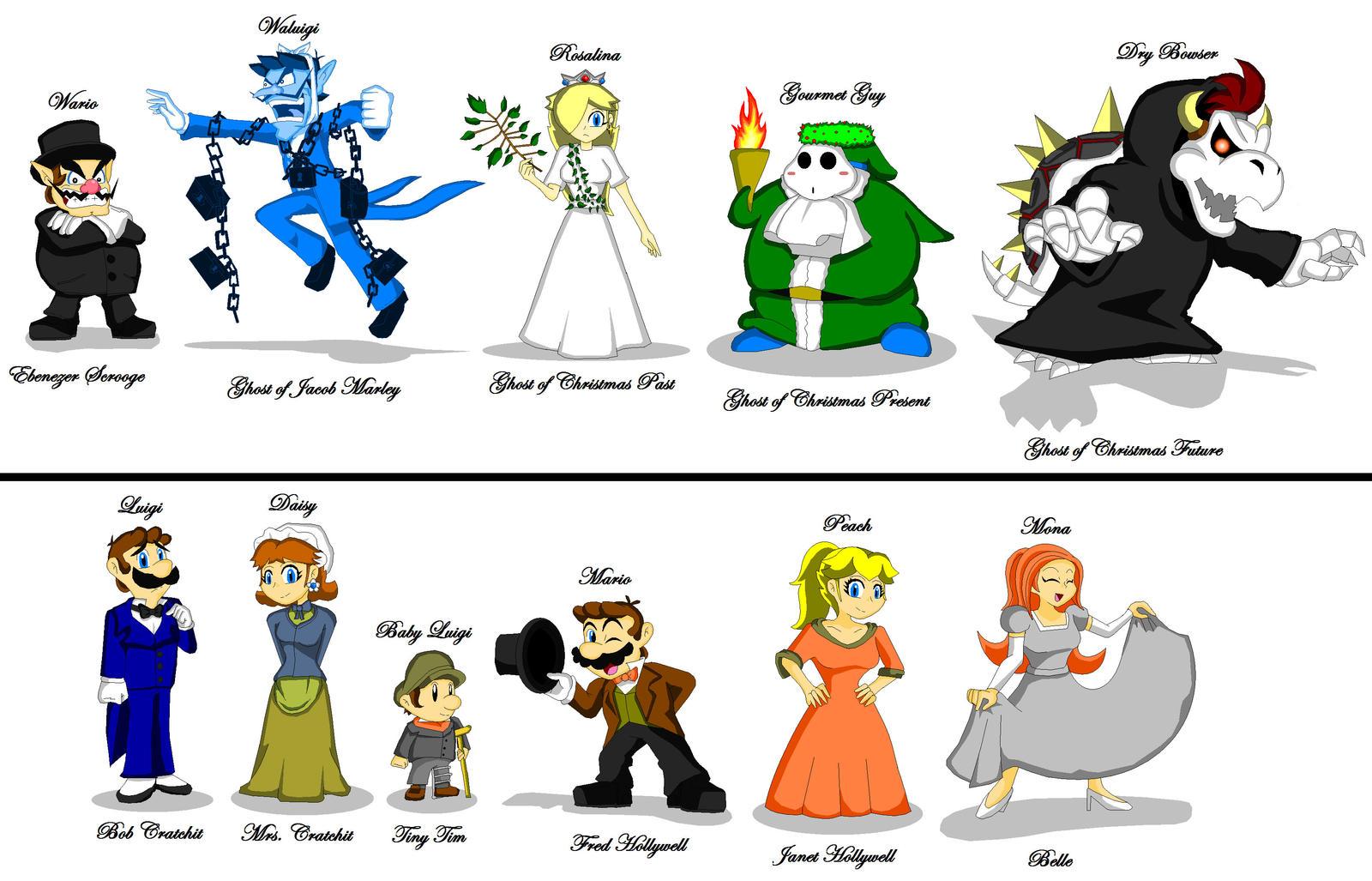 Super Mario Christmas Carol Character Sheet by Koopa-Master on ...