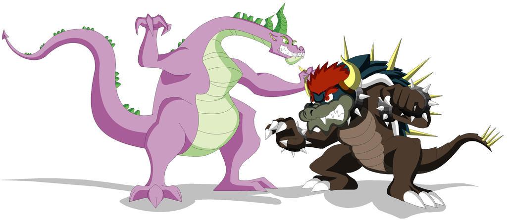 Spike vs Giga Bowser by Koopa-Master on DeviantArt