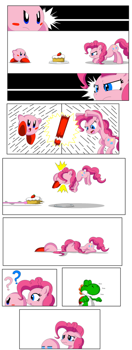 Pinkie Pie vs Kirby by Koopa-Master