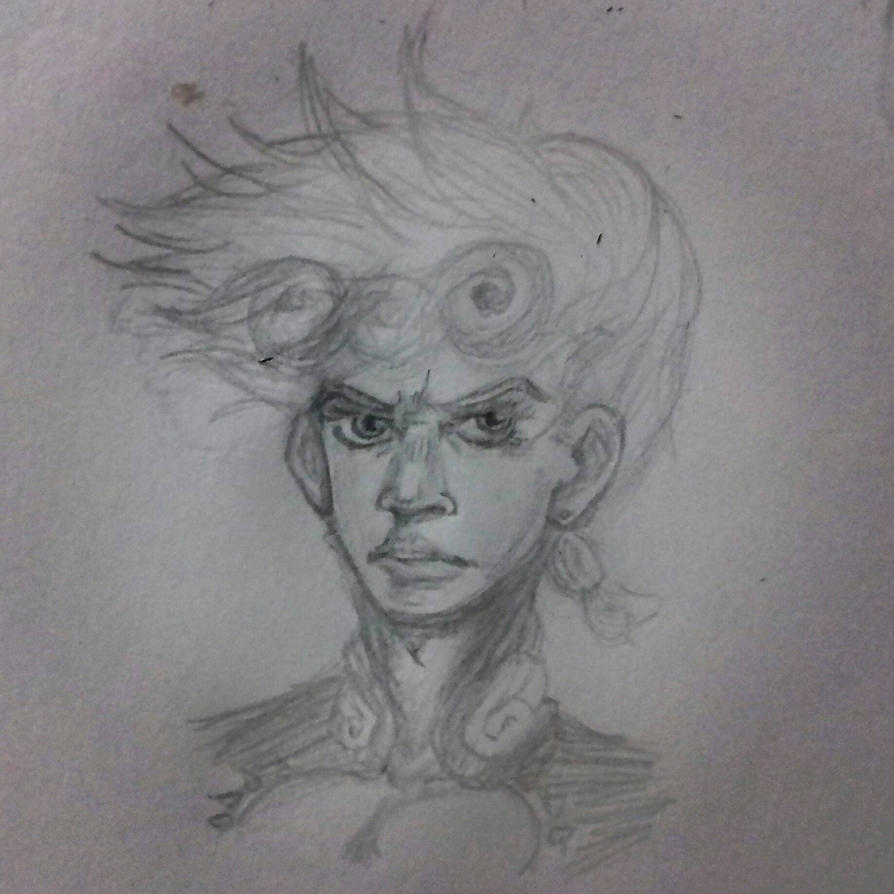 Giorno Giovanna sketch by AaronZX1