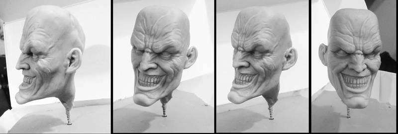 Joker head sculpt WIP