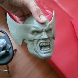 wolverine custom head for lsf scale statue