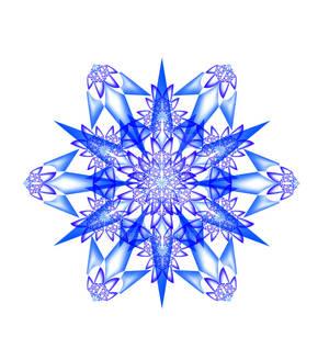 'Deep Blue' Mandala