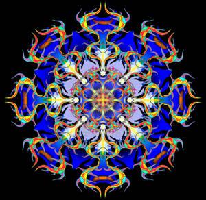 'Ride The Snake' Mandala