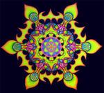 'Lotus Fire' UV Backdrop