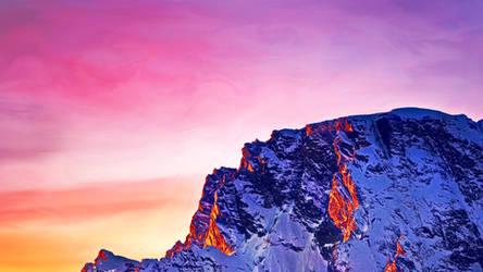 Purple snow by Momez