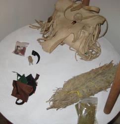 Bear Ritual Altar 2 by lupagreenwolf