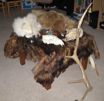Bear Ritual Altar 3 by lupagreenwolf