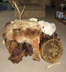 Bear Ritual Altar 4 by lupagreenwolf