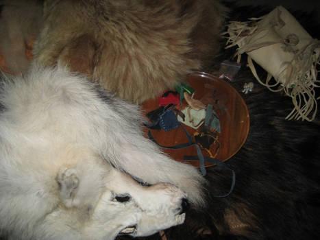 Bear Ritual Altar 5 by lupagreenwolf
