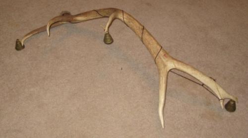 Elk antler ritual bells by lupagreenwolf