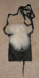 Custom wolf fur necklace pouch