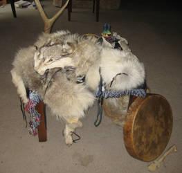 Grey wolf ritual altar 1