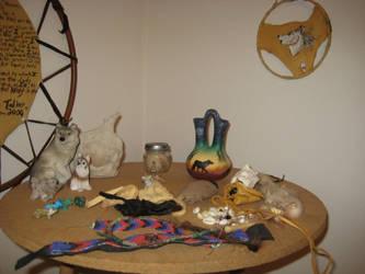 Grey wolf ritual altar 5 by lupagreenwolf