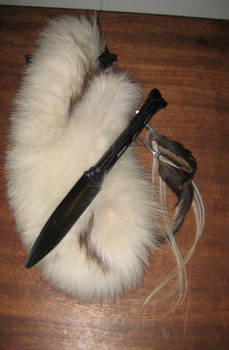 Custom bone knife fox sheath 2