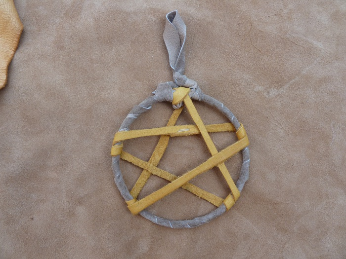 Leather pentacle by lupagreenwolf