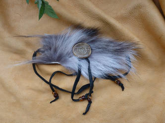 Custom wolf fur bracelet by lupagreenwolf