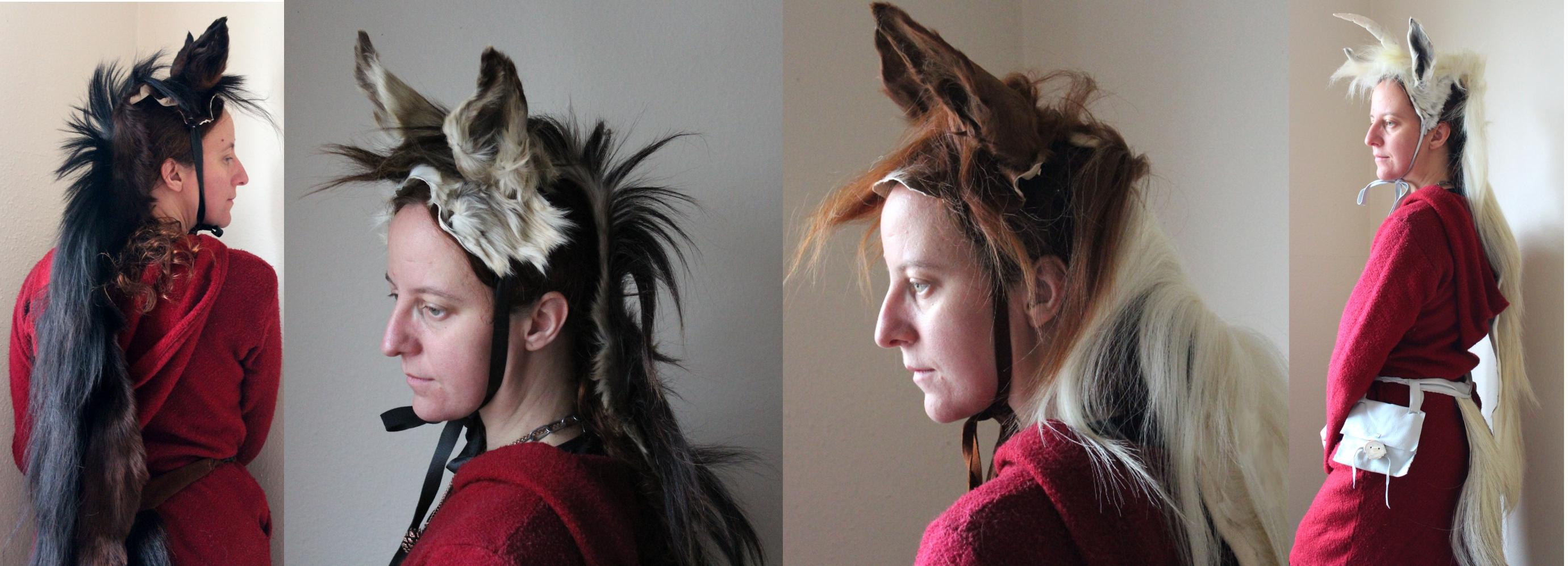 Причёска волчий хвост женская