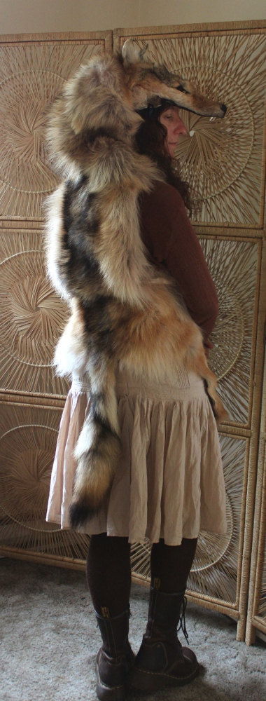 Red-colored wolf headdress by lupagreenwolf