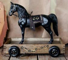 Custom Breyer Western Horse Pull Toy FS
