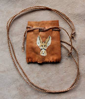 Fennec Fox Pouch by lupagreenwolf