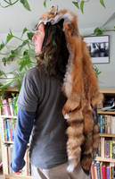 Triple Tail Red Fox Headdress by lupagreenwolf