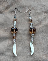 Coyote Fang Earrings by lupagreenwolf