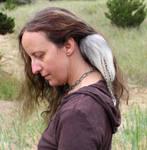 Arctic Fox Tail Hair Clip
