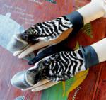 Real Zebra Hoof Handflowers and More!
