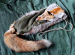 Red Fox and Deerskin Shoulder Bag