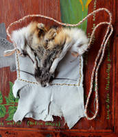 New Fur and Leather Pouches by lupagreenwolf
