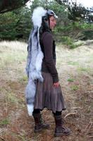 Platinum Whitemark Fox Headdress by lupagreenwolf