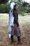 Platinum Whitemark Fox Headdress