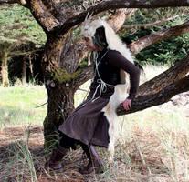 White Billy Goat Headdress by lupagreenwolf