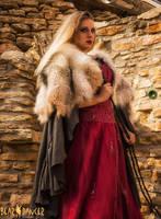 Wolf Fur and Deerskin Cloak by lupagreenwolf