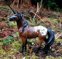 Cedar - Custom Breyer Appaloosa Unicorn by lupagreenwolf