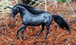 Tanith - Custom Breyer Black Unicorn