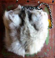 BIG Wolf Fur Shoulder Bag by lupagreenwolf