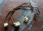 Black Bear Bone Necklaces