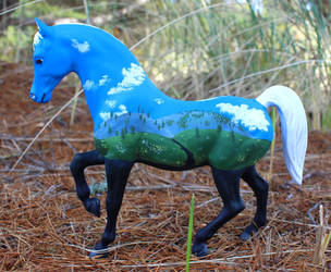 Sojourn - Custom Breyer Mural Horse by lupagreenwolf